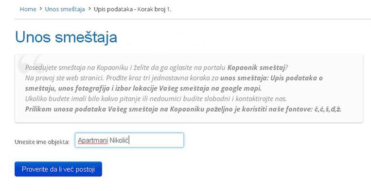 Ribarska Banja  - postavljanje oglasa - uputstvo slika 1.1