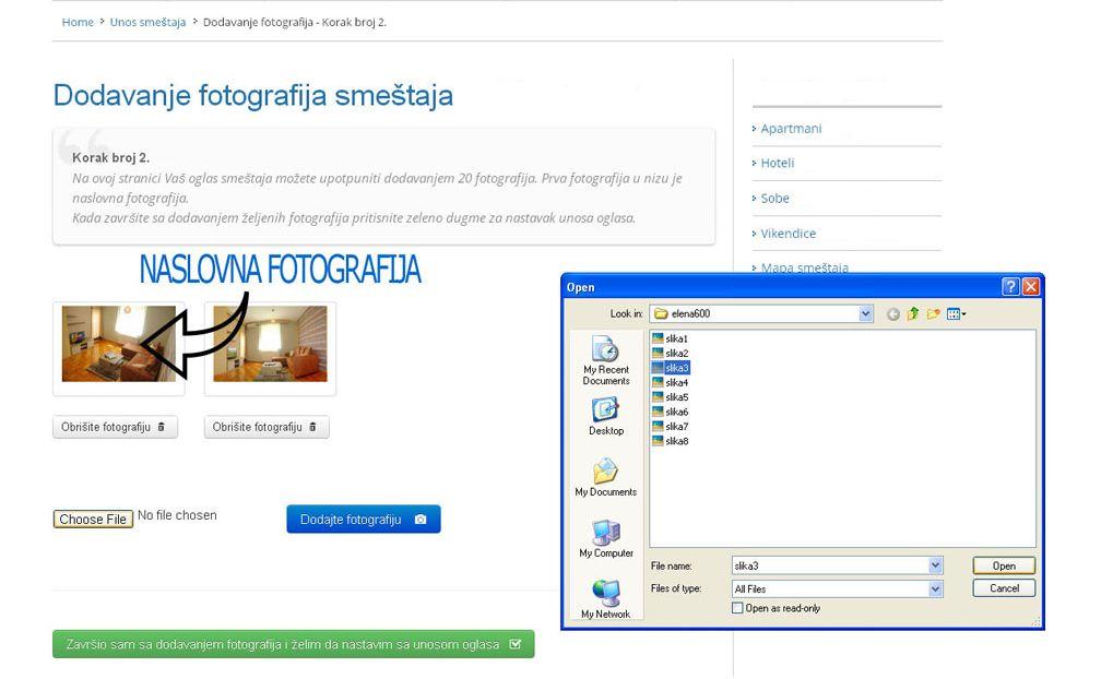 Ribarska Banja  - postavljanje oglasa - uputstvo slika 2.