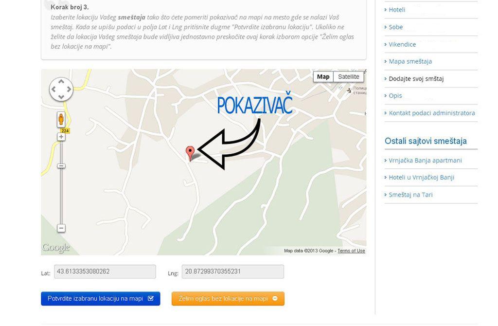Ribarska Banja  - postavljanje oglasa - uputstvo slika 3.